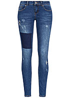 Seventyseven Lifestyle Damen Skinny Jeans 5-Pockets Low Waist medium blau denim