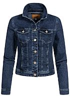 ONLY Damen Jeans Jacke 4-Pockets Knopfleiste medium dunkel blau