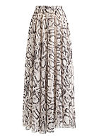 Fresh Lemons Damen Longform Rock 2-lagig Snake Print off weiss braun