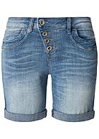 TOM TAILOR Damen Bermuda Jeans Shorts 5-Pockets hell blau denim