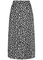Styleboom Fashion Damen Longform Rock Leo Print schwarz weiss