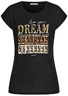 Hailys Damen T-Shirt Dream Paillettenfront schwarz