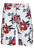 Montezuma Badehose SALE 1720688 Hibiskus All over V3 weiss
