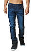 Jack and Jones Jeans TIM 12080224 Destroy Look Slim Fit dark blue denim