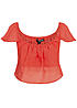 Tally Weijl Damen Cropped Top STOPEJASY YD Schulterfrei  Bauchfrei corall rot