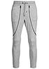 Jack and Jones Sweatpants 12093023 HAMILTON TIGHT FIT 2 Zipper vorne hell grau