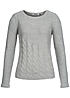 ONLY Damen Strick Pullover OLYMPIA 15101608 Grobstrick Rundhals hell grau