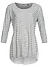 ONLY Damen Pullover 15102875 CADENCE Pullover & Bluse 3/4 Arm hell grau melange weiss