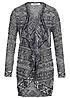 ONLY Damen Strick Cardigan HELEN 15102102 Grobstrick Rauten night sky blau weiss