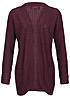 Only Damen Strick Cardigan EMMA NOOS 15089944 Grobstrick 2 Taschen windsor wine rot