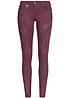 ONLY Damen Jeans CORAL 15103215 Skinny Jeans Destroy Look 5 Pocket Windsor wine rot