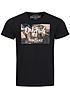 Jack and Jones T-Shirt FASTER CREW NECK 12101966 Brooklyn Originals schwarz