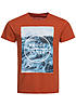 Jack and Jones T-Shirt FASTER CREW NECK 12101966 Rough at Sea Burnt Ochre Orange