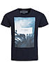 Jack and Jones T-Shirt FASTER CREW NECK 12101966 Originals Palmen Navy blazer blau