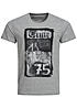 Jack and Jones T-Shirt FASTER CREW NECK 12101962 Time 75 Hell grau melange