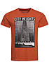 Jack and Jones T-Shirt FASTER CREW NECK 12101962 City Heights Bridge Orchre Orange