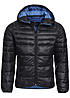 Jack and Jones Übergangsjacke BARON PUFFER JACKET CAMP 12095453 mit Kapuze schwarz