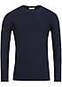 Jack and Jones Pullover CALLA CREW NECK 12084384 Rollkante navy blau