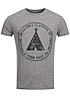 Jack and Jones T-Shirt PAINT TEE 12093229 CREW NECK JJ Denim Raven grau melange