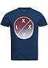 Jack and Jones T-Shirt FADE CREW NECK 12092932 Circle X Print imperial blau rot weiss