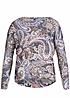Hailys Damen Sweater LUCIA AM-0914134 Oversize Paisley Muster navy rot beige