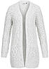 ONLY Damen Strick Cardigan SISSY 15102592 Grobstrick 2 Taschen light grey melange