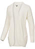 ONLY Damen Strick Cardigan EMMA 15089944 Grobstrick 2 Taschen cloud dancer weiss