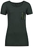 ONLY Damen T-Shirt NOVA 15107765 Brusttasche Pailletten pine grove gr�n