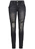 Hailys Damen Jeans ALIN AM-152013 4 deko Zipper Destroy Look 5-Pocket schwarz