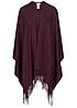 ONLY Damen Poncho Fransen windsor wine rot
