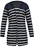 ONLY Damen Strick Cardigan offener Schnitt gestreift navy blazer cloud dancer weiss