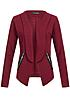 Styleboom Fashion Damen Blazer 2 deko Zipper india rot