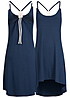 Styleboom Fashion Damen Kleid navy blau