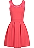 Styleboom Fashion Damen Mini Kleid Zipper Spitze coral rot