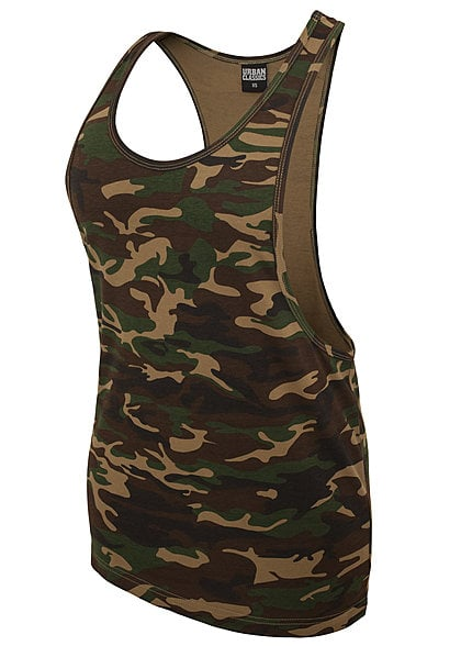Seventyseven Lifestyle Damen Loose Tank Top Camouflage Look wood camo