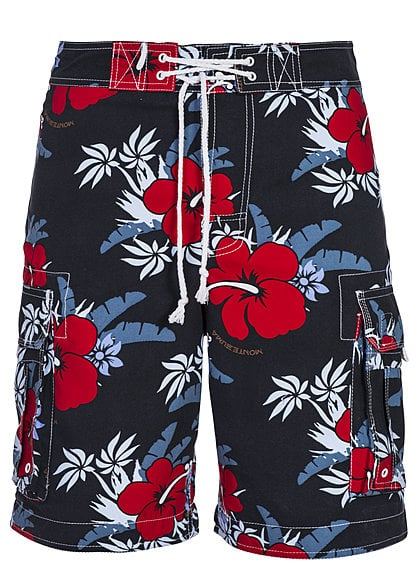 Montezuma Badehose SALE 1720688 Hibiskus All over V1 dunkel blau