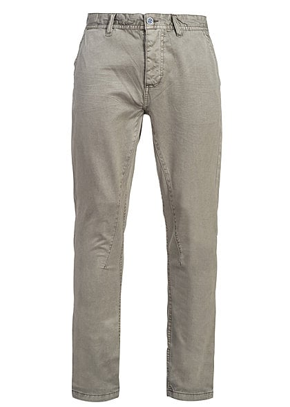 Eight2Nine Herren Jeanshose 5 Pocket tiefer Schritt by Sublevel olive beige