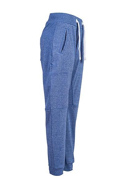 VSCT Clubwear Jogginghose Breite Kordel und Melange Look 5640945 azur melange blau
