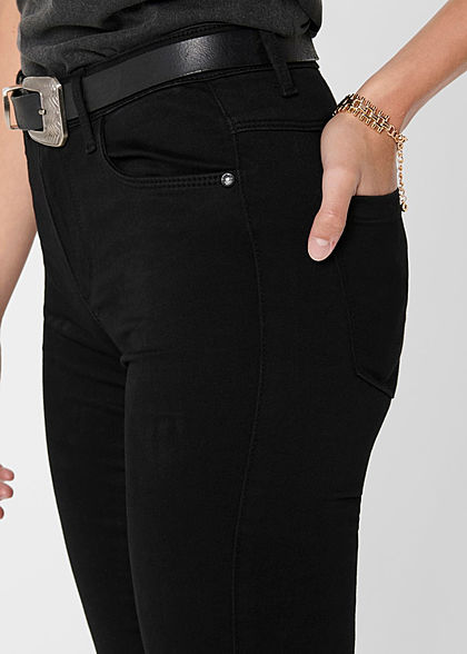 ONLY Damen NOOS Skinny Stretch Jeans Hose 5-Pockets Regular Waist schwarz denim
