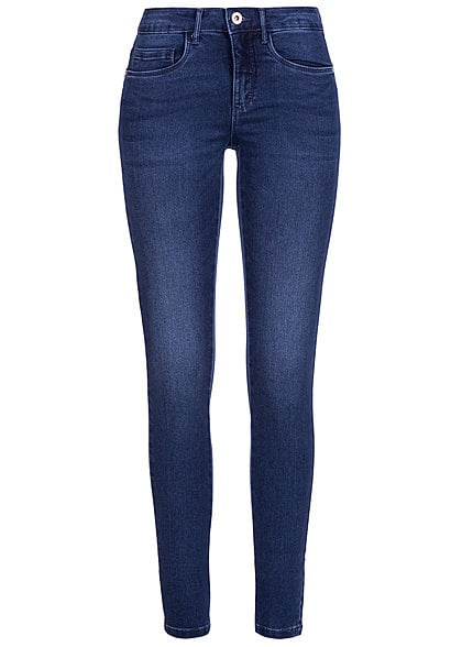 ONLY Damen Skinny Jeans NOOS 5-Pockets Stretch medium blau denim