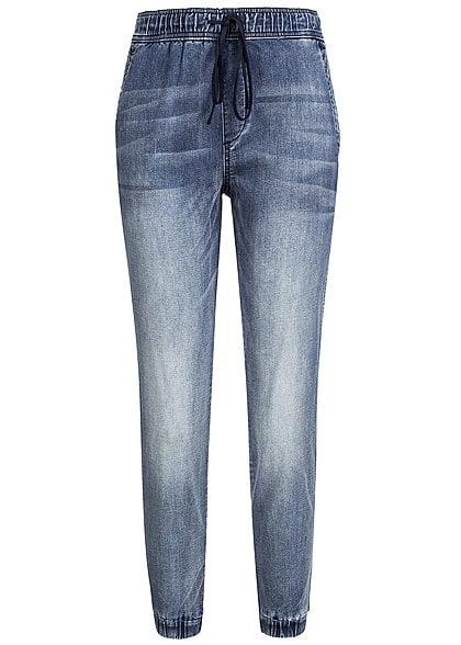 weijl damen jogginghose spadegrace ehu jeans optik gummizug denim blau. Black Bedroom Furniture Sets. Home Design Ideas