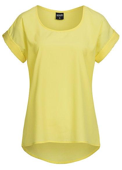Hailys Damen Shirt DORO AM-0914253 leicht durchsichtig weiter Schnitt gelb