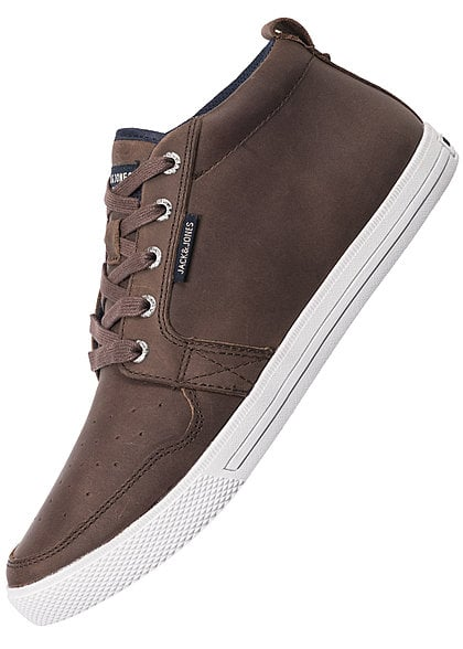 Jack and Jones Schuhe UNO LEATHER 12095330 Mid Sneaker potting soil dunkel braun