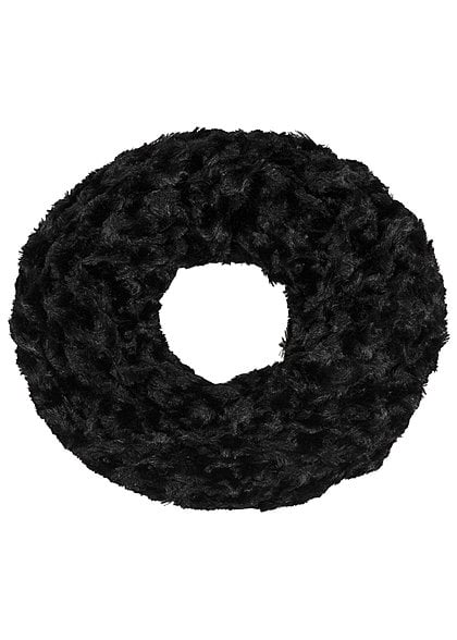 Madonna Winter Loop Schal SNOOD 97-0117-B Kunstfell schwarz
