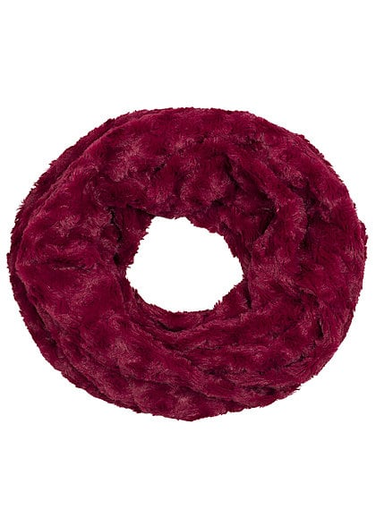 Madonna Winter Loop Schal SNOOD 97-0117-B Kunstfell dunkel rot
