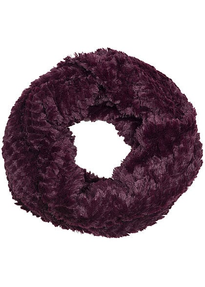 Madonna Winter Loop Schal SNOOD 97-0114-B Kunstfell burgundy