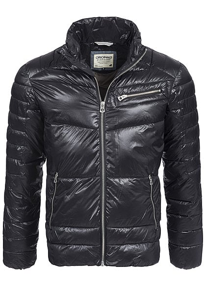 Jack and Jones Herren Jacke SKIPPER 12096864 Stehkragen 3 Zipper schwarz - Art.-Nr.: 15100000