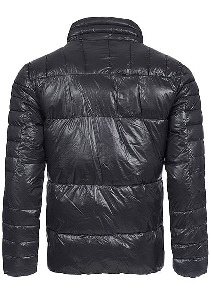Jack and Jones Herren Jacke SKIPPER 12096864 Stehkragen 3 Zipper schwarz
