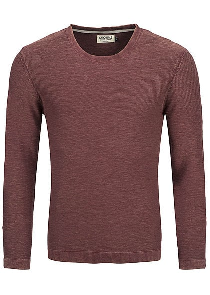 Jack and Jones Sweater WISH CREW NECK 12097106 Regular Fit port rot