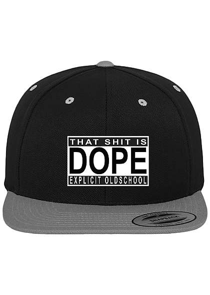Mister Tee Cap Shit is Dope Snapback schwarz silber